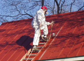 Metal paint for your roof a g williams painting company for How to paint tin roof