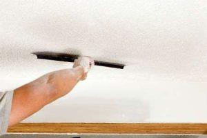 professional painters remove popcorn ceilings