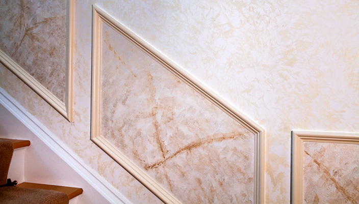 faux stone paint finish