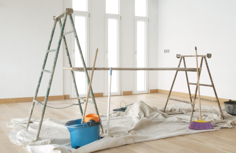 a good painting company cleans up the work area thoroughly