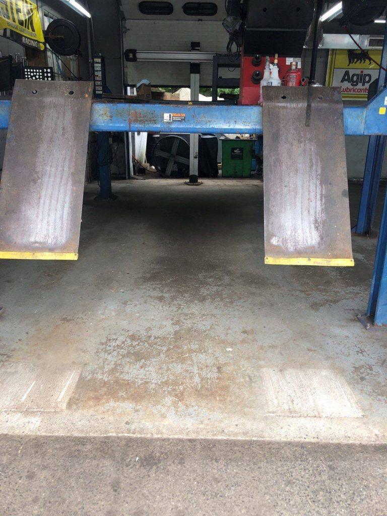 unfinished garage floor shop flooring