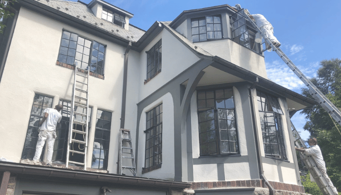 exterior painting in the fall